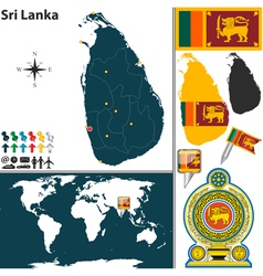 Sri Lanka map world vector image vector image
