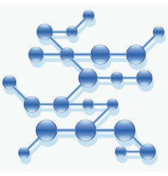 Structure of abstract molecule vector image