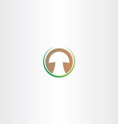 Stylized mushroom logo design vector