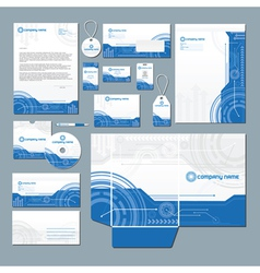 Technology stationery set vector