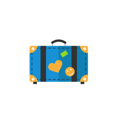 Travel bag flat icon travel tourism vector