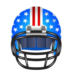 Football helmet with stripes and stars vector image