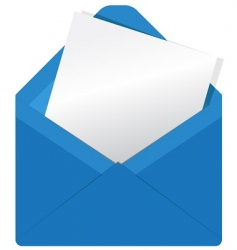 blue envelope2 vector image