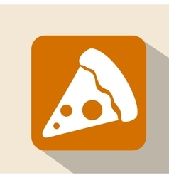 Pizza over frame design vector