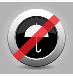 Gray chrome button - no umbrella vector