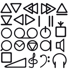Tape recorder symbols vector