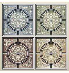 Vintage tile background vector image