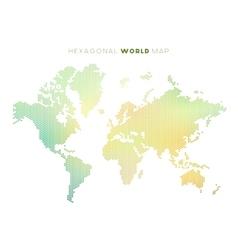 Hexagonal world map vector