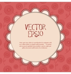 Red vintage card vector