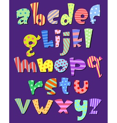 lower case comic alphabet vector image