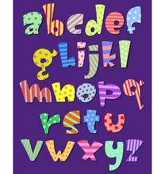 Lower case comic alphabet vector
