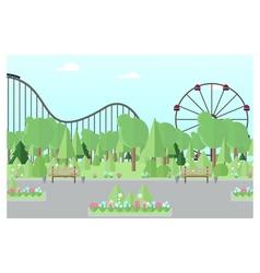 City amusement park vector