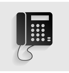 Communication or phone sign black paper with vector