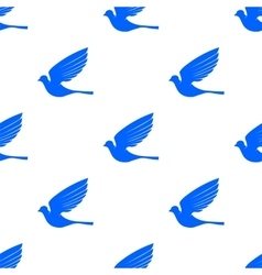 Fly dove seamless pattern vector