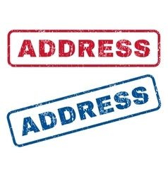 Address rubber stamps vector
