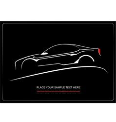 al 0439 car silhouette vector image vector image