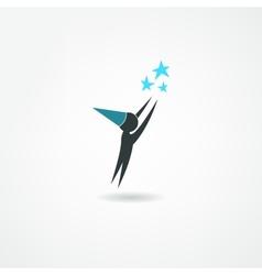 Astronomer icon vector