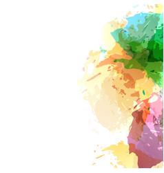 Bright abstract art watercolor splatter vector