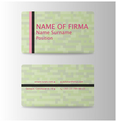 business card background collection vector image vector image