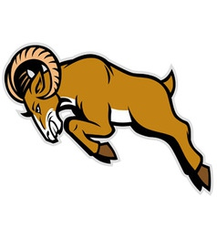 Charging ram mascot vector