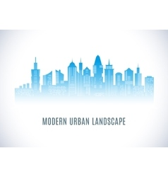 City urban design abstract landscape vector