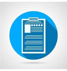 Clipboard with questionnaire icon vector image