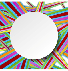 Colorful stripes and grey circle vector