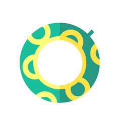 Coloured of a swimming circle vector