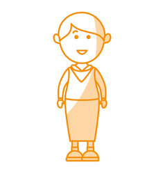 cute grandmother avatar character vector image vector image