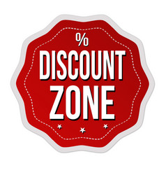 Discount zone label or sticker vector
