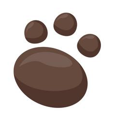 Footprint animal symbol vector