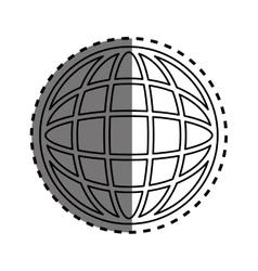 global sphere symbol vector image