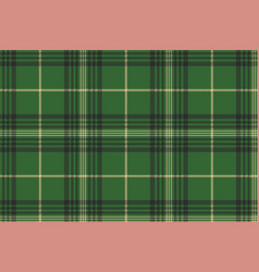 Green check plaid tartan seamless pattern vector