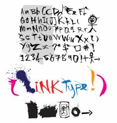 Ink style type vector