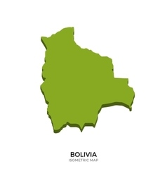 Isometric map of Bolivia detailed vector image