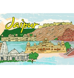 jaipur doodles vector image vector image