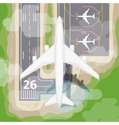 Landing airplane vector image vector image