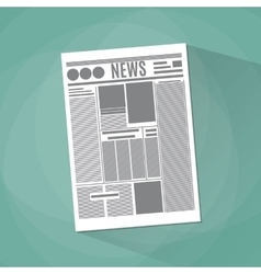 Newspaper icon on green background vector