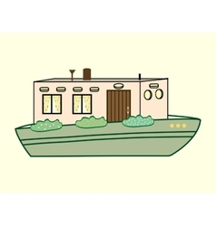 River house color water transport vector