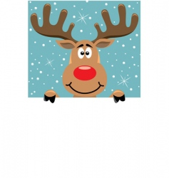 Rudolph Christmas background vector image