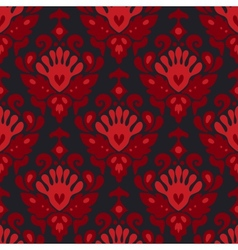 Seamless damask flower pattern vector image vector image