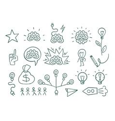 Set graphic elements idea brain creative vector