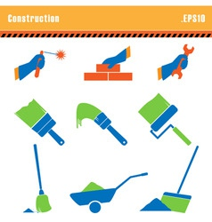 set of icons construction a vector vector image vector image