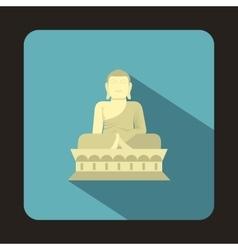 Sitting Buddha South Korea icon flat style vector image vector image