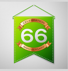 sixty six years anniversary celebration design vector image