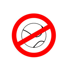 Stop tennis prohibited team game red prohibition vector