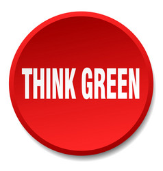 think green red round flat isolated push button vector image vector image