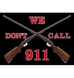 Warning sign with guns vector image