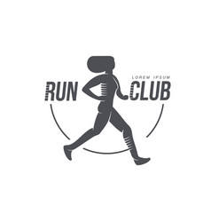 woman running jogging club icon isolated vector image