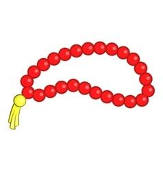 Beads icon cartoon style vector